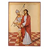 Holyart Vía Crucis 15 Estaciones Iconos Pintados a Mano 44x32 cm Rumania