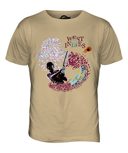 CandyMix Indie Occidentali Cricket T-Shirt da Uomo Maglietta Caramello
