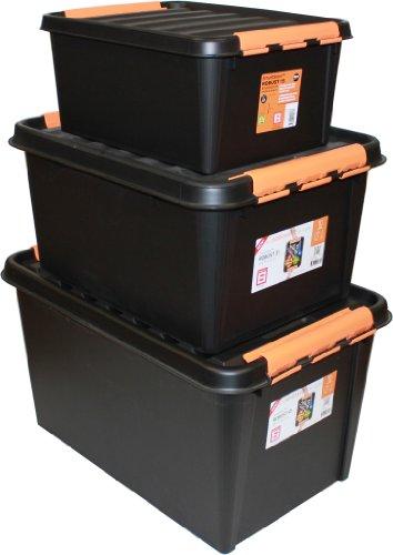 Preisvergleich Produktbild Orthex 3153145 3-er Set Clipbox Smart Store Robust, 15, 31 und 45 Liter