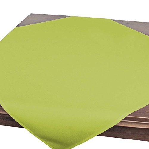 Tovaglia da tavola VIENNA verde, resinata antimacchia, adatta a tutto l'anno, quadrata 85x85 cm