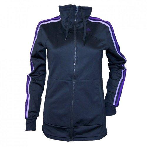 adidas Damen ClimaLite Trainingsjacke, Farbe:Schwarz;Bitte Größe wählen:S
