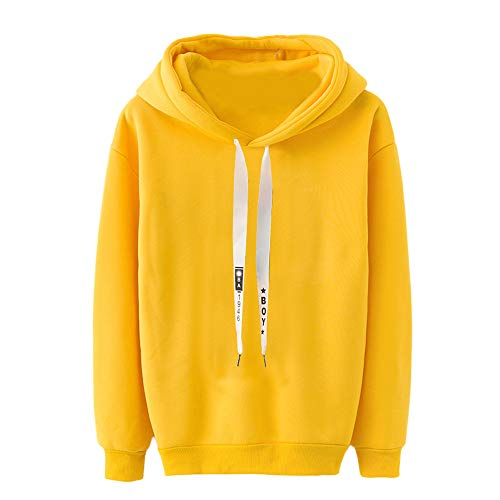 TWBB Damen Hoodie,Winter Pullover Einfarbig Verdicken Mantel Slim-Fit Sweatshirt Outwear Langarm-Shirt