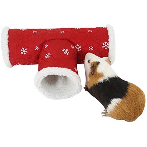 ZuckerTi Natur Spielzeug Tunnel Rascheltunnel Schilf Haus Nest Höhle für Hamster Nager Meerschweinchen Ratten Kleinnager Kleintiere Hase Kaninchen mit neu trigonal Design