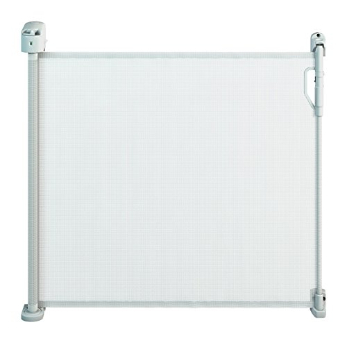 Gaterol Active Pro Bianco-Barriera di sicurezza Store estensibile intelligente per scale e porta con sistema quickpass e sistema di blocco automatico fino a 120cm di copertura