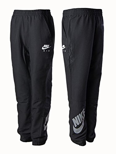 Nike Air black woven tapered fit fitness jog pant tracksuit trouser bottoms -New