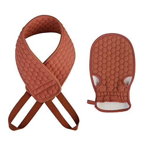 ZERHOK - Esponja exfoliante para la espalda, para el cuerpo y la ducha, con manopla para eliminar la piel muerta