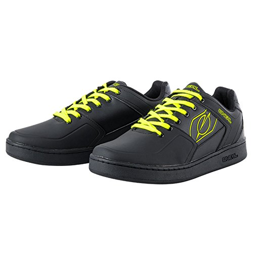 O'Neal Pinned Flat Pedal Fahrrad Schuhe Sneaker MTB BMX DH FR All Mountain Bike Downhill Sport, 322, Farbe Gelb, Größe 42