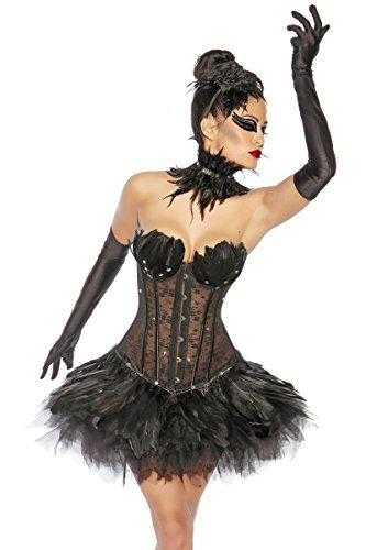 Tutu - Petticoat - schwarz (Kostüme Swan Wie Black)