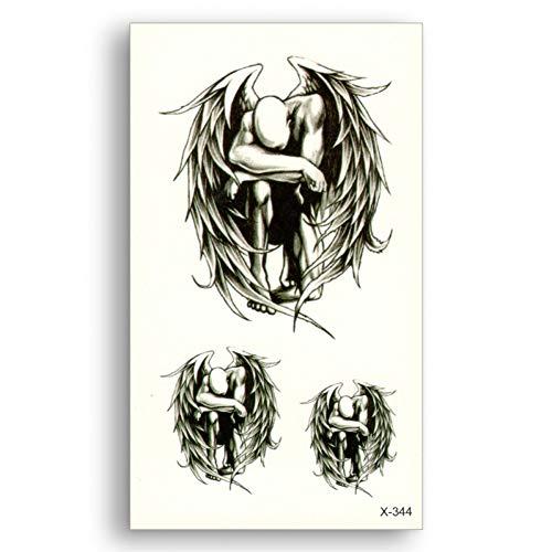 serdichte Abnehmbare Tattoo Wasser Schwarz Gefallenen Engel Aufkleber Männer Frauen Kühlen Sexy Körper Live ()
