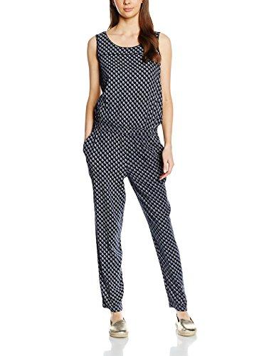 TOM TAILOR Damen Trendy Summer Jumpsuit Blau (real navy blue 6593)