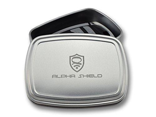 ALPHA SHIELD - GS Keyless Go Schutz Aluminiumdose für Autoschlüssel, 1000% sichere NFC Schlüsselhülle ohne Kompromisse! Extrem robuste Neuentwicklung, RFID Blocker Schutzhülle, NFC Abschirmhülle, Schlüsseletui, Car Key Hülle, Schlüssel Safe, Box für Funkschlüssel