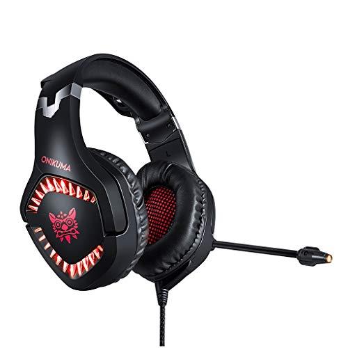 Wired Shocking Bass Gaming-Kopfhörer mit Mikrofon-Headset(rot)