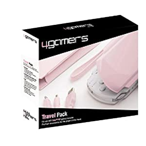 4Gamers Pink PSP Travel Pk-USB Data/Chrg/Cs