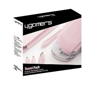 4Gamers Pink PSP Travel Pk-USB Data/Chrg/Cs