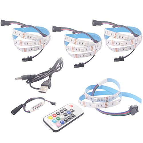 DIKHBJWQ USB-LED-Streifen-Neigungslicht TV-HDTV-LCD-Hintergrundbeleuchtungs-Kit 4X 50 cm Nachtlicht Baby Sternenhimmel Nachttischlampe Kinderzimmer Tischlampe Hdtv-kit