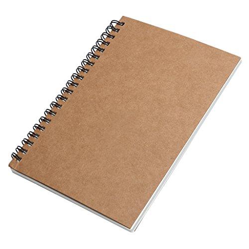 lunji Notizbuch/NoteBook/Notizbuch Kraftpapier Portable-Geschenke-Schreibwaren 9.5x14x1cm B (Spirale Kleine Notebook)