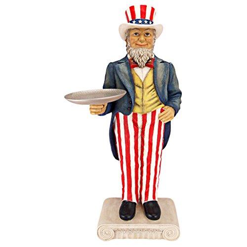 "Design Toscano EU9341 Skulpturaler Butler-Beistelltisch ""Uncle Sam Yankee Doodle Dandy"" Resin Mehrfarbig 26.5 x 35.5 x 81.5 cm"