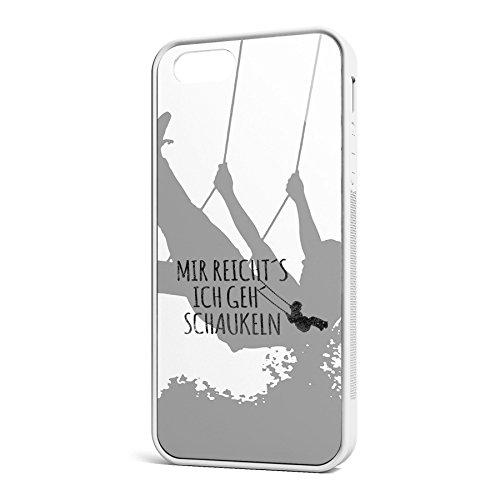 Smartcover Case Mir reichts z.B. für Iphone 5 / 5S, Iphone 6 / 6S, Samsung S6 und S6 EDGE mit griffigem Gummirand und coolem Print, Smartphone Hülle:Samsung S6 EDGE weiss Iphone 5 / 5S weiss