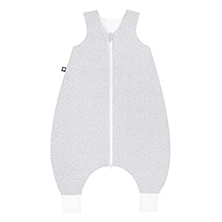 Julius Zöllner 9082569290Jersey Jumper–Saco de dormir con patas–Tiny Squares Grey Talla 80, gris