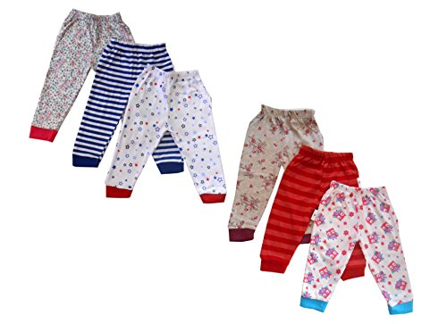 NammaBaby Baby Pajama Pant With Rib MIXED PRINTS - SET OF 6 (9-12 months)