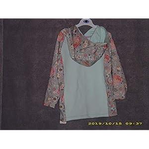 Hoodie Kapuzenshirt Gr. 98-104Langarm Winter Blumen