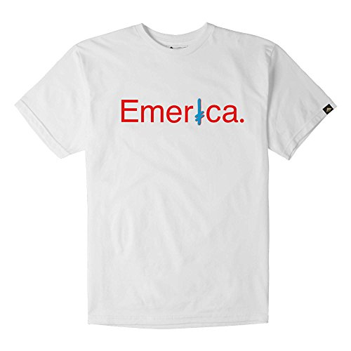 Emerica Erwachsene Deathwish T-Shirt, White, L