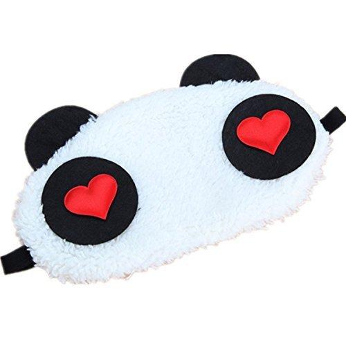 Preisvergleich Produktbild Schlafmaske Panda-Augen-Design, 1 Stück