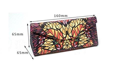 Mindruer Creative Tragbare Brille Box DREIECK Sonnenbrille Kurzsichtige Fall (Igel)