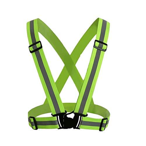 Laufen 1PC Warnweste Warnweste für Männer und Frauen High Visibility Reflektierende Gürtel für Outdoor-Jogging Gehen Fluorescent Grün -