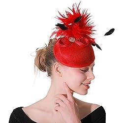 Sombrero de la Boda del Partido de Las Mujeres Elegante Flor Lunares Malla Malla Velo fascinador Pinza de Pelo Sombrero cóctel de la Boda Tocado de la Boda de la Flor de Las Mujeres