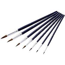 Ukallaite 7pz pennelli per pittura ad acquerello olio acrilico artista dipingere in legno Set di pennelli