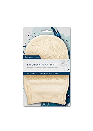 Hydrea London - Organic Egyptian Loofah, Guanto esfoliante in spugna di luffa