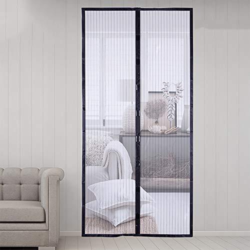 Qys Magnetische Fliegengitter-Türgitter zum Schutz vor Fliegen Mesh Curtain, schwarz,140 * 240cm