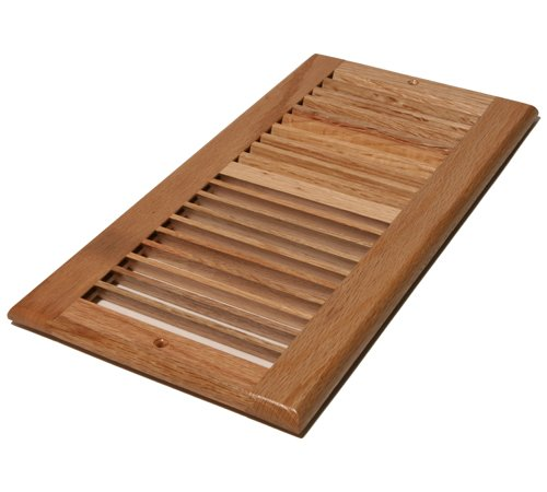 Decor Grates WL614R-N 6-Inch by 14-Inch Wood Return Air, Natural Oak by Decor Grates