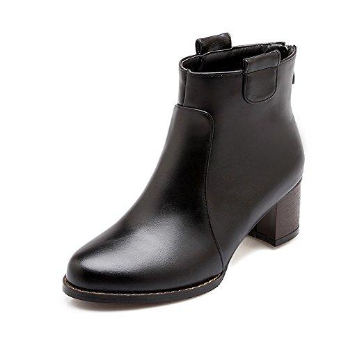 A&N ,  Damen Durchgängies Plateau Sandalen mit Keilabsatz , schwarz - schwarz - Größe: 35.5