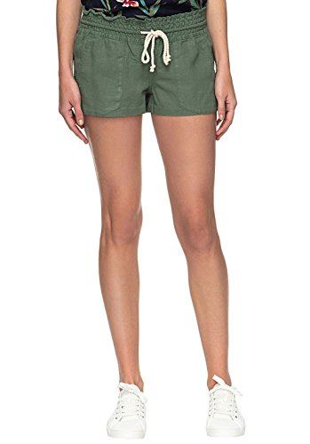 Roxy Damen Oceanside J Ndst GLW0 Non-Denim Shorts, Sea Spray-Solid, S (Roxy Shorts Surf)