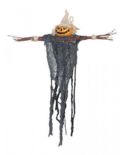 r Vogelscheuche mit Kürbis-Gesicht 45 cm (Schaurige Gesichter Für Kürbisse Halloween)