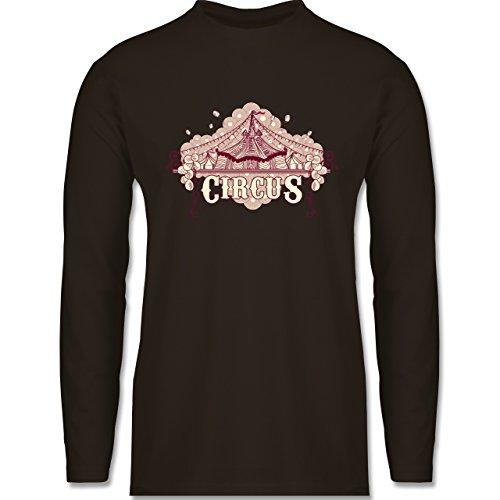 Shirtracer Statement Shirts - Circus - Herren Langarmshirt Braun