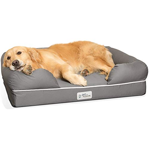 PetFusion Large Dog w/Solid 10 cm Memory Foam, Waterproof liner, YKK premium zippers. Breathable cotton blend, removable & easy to clean. (Replacement covers & blankets also avail)
