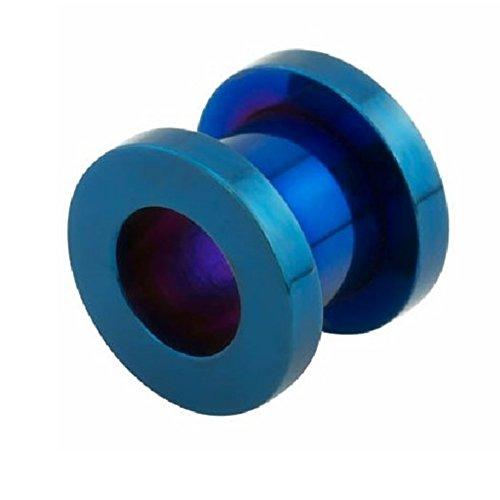 eeddoo Blue Steel - Tunnel - 1,6 mm (Piercing Flesh Tunnel Ohr Plug für gedehnte Ohren Lobes Tubes)