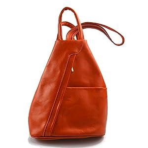 Leder rucksack menner damen leder tasche gürteltasche hüfttasche umhängetasche schultertasche tragetasche ledertasche seitentasche herren orange