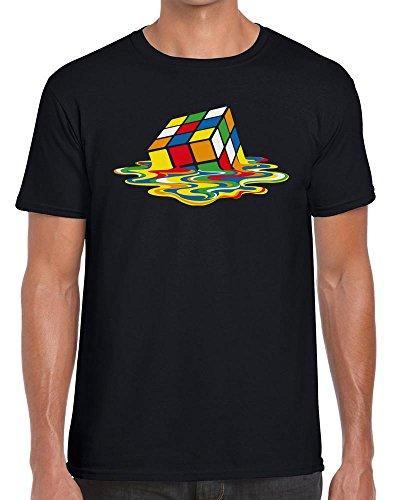 Men's Melting Rubik's Cube T-shirt in 3 Colours - S to XXL