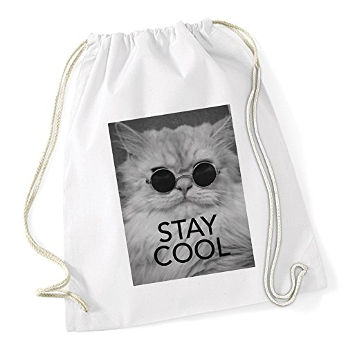 Stay Cool Cat Sac De Gym Blanc Certified Freak