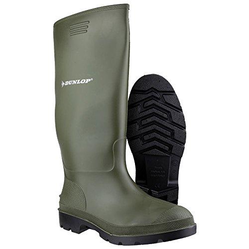 dunlop stivali  Dunlop - Stivali di gomma da uomo con gambale alto, colore nero