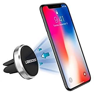 Autel UBEGOOD Ubeg Magnetic phone holder car holder universal car holder for iphone/8/8 x 7/7plus Samsung Galaxy S8/S7/Note 8 and other Smartphones or GPS Devices (Silver)