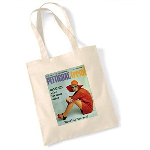 Vintage Teas Twiggy Jupon 30 Septembre 1967 Sac fourre-Tout