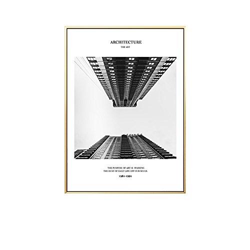 Wand-staffelei Bilderrahmen (Fresko nordische Wohnzimmer dekorative Malerei modernen minimalistischen schwarz-weiß Stil Gemälde Wandmalerei Sofa Hintergrund Wand ( Color : Light Wood , Size : 40*60CM-Look up ))