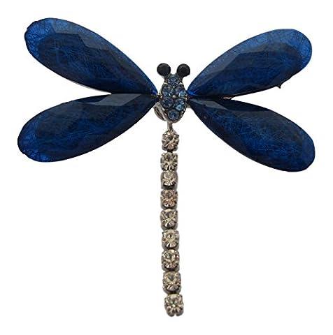 Broche Boutique Bleu Diamante Broche Libellule Insect Soins maternels dimanche Cadeau