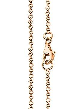 Erbskette rose Silberkette 1,7mm von Nenalina mit Karabinerverschluss | 925 Sterling Silber | Damen Collier Halskette...