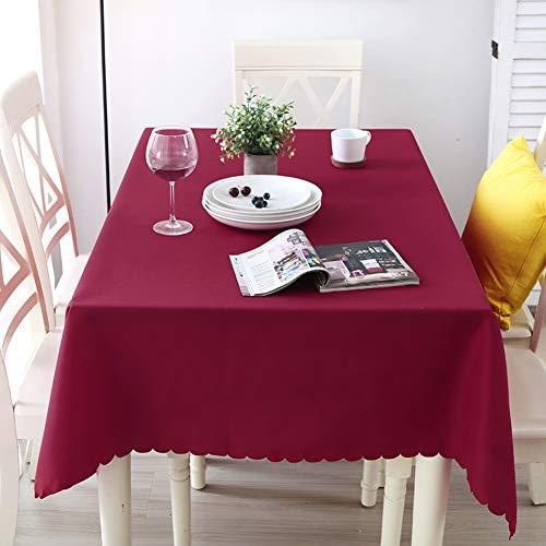 Batsdcb tinta unita lavabile poliestere tovaglia, coperchio della tabella, ottimo per ristorante, bar, cena di vacanza, ornamento della casa-vino rosso 90x90cm(35x35inch)